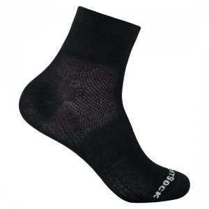 wrightsock coolmesh 2 quarter black