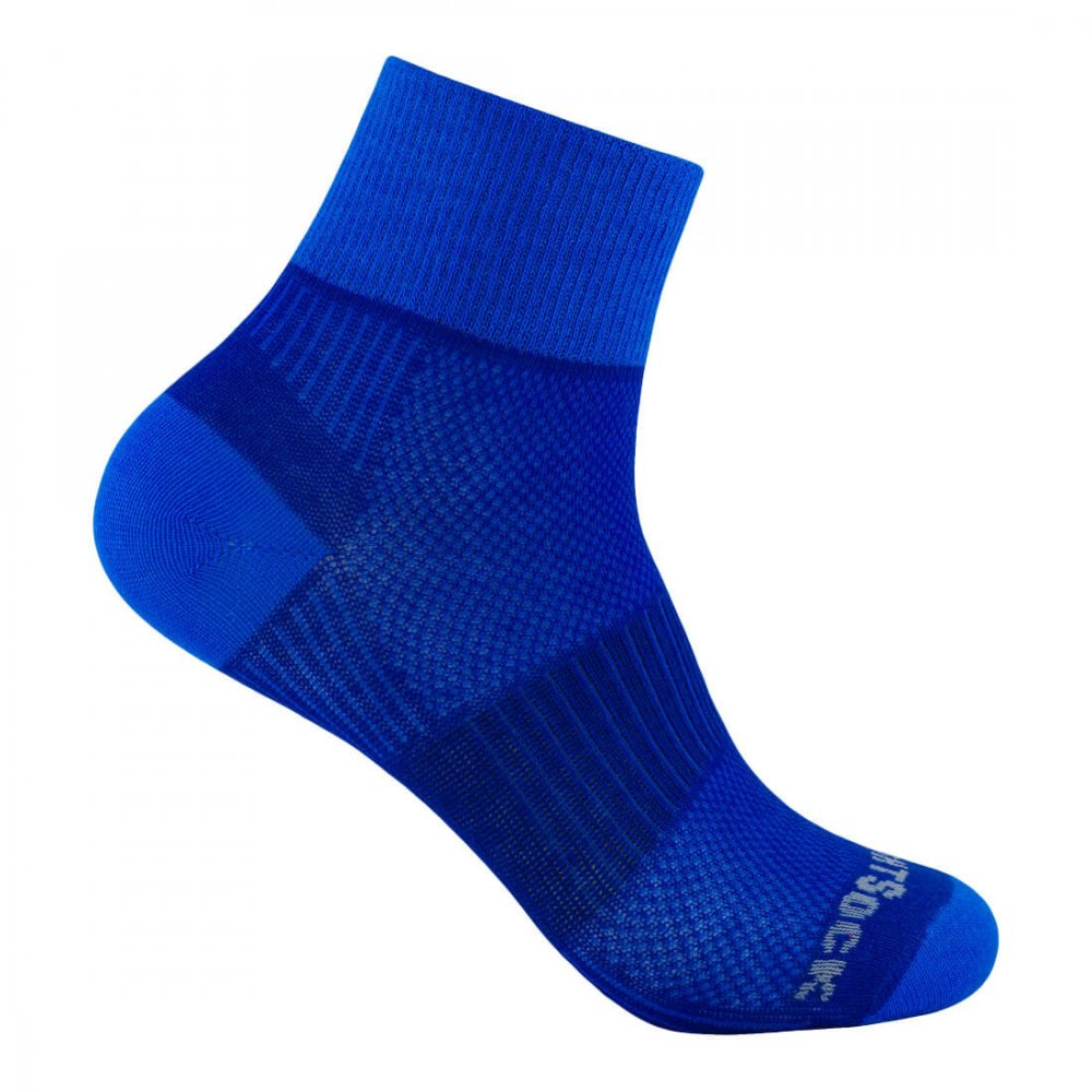 wrightsock coolmesh 2 quarter royal blue