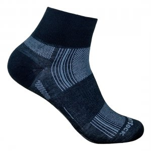 wrightsock stride quarter black