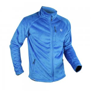 Vertical Softfleece Jacke blau