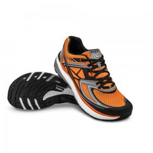 Topo Athletic Ultrafly Orange/Schwarz