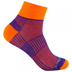 wrightsock coolmesh 2 quarter royal blue orange