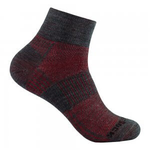 wrightsock merino coolmesh 2 quarter grey red